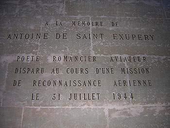 Antoine de Saint-Exupéry au Pantheon, à Paris