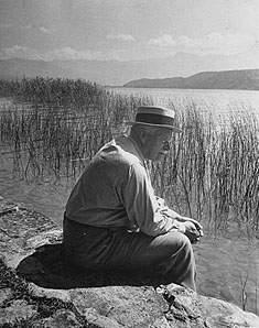Jung a orillas del lago Zúrich en Bollingen