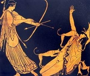 Artemisa caza a Acteón