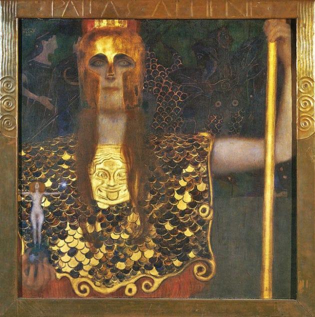 Palas Atenea por Gustav Klimt